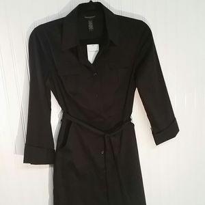 NWT Banana Republic Black Shirt Dress